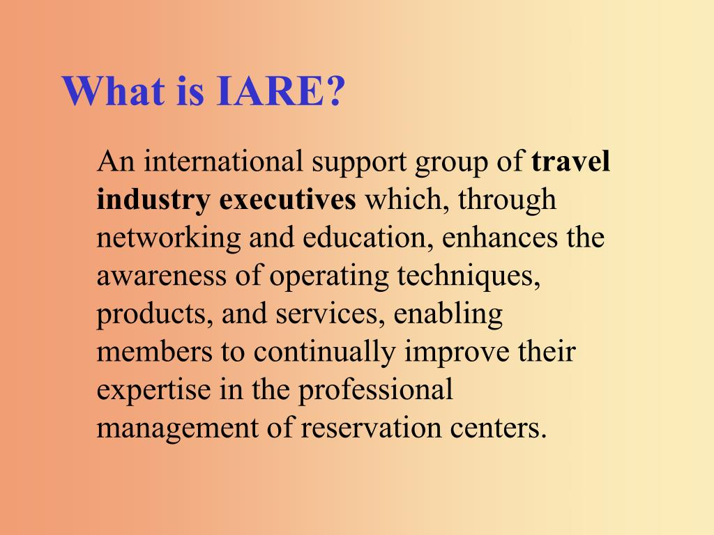 What is IARE?