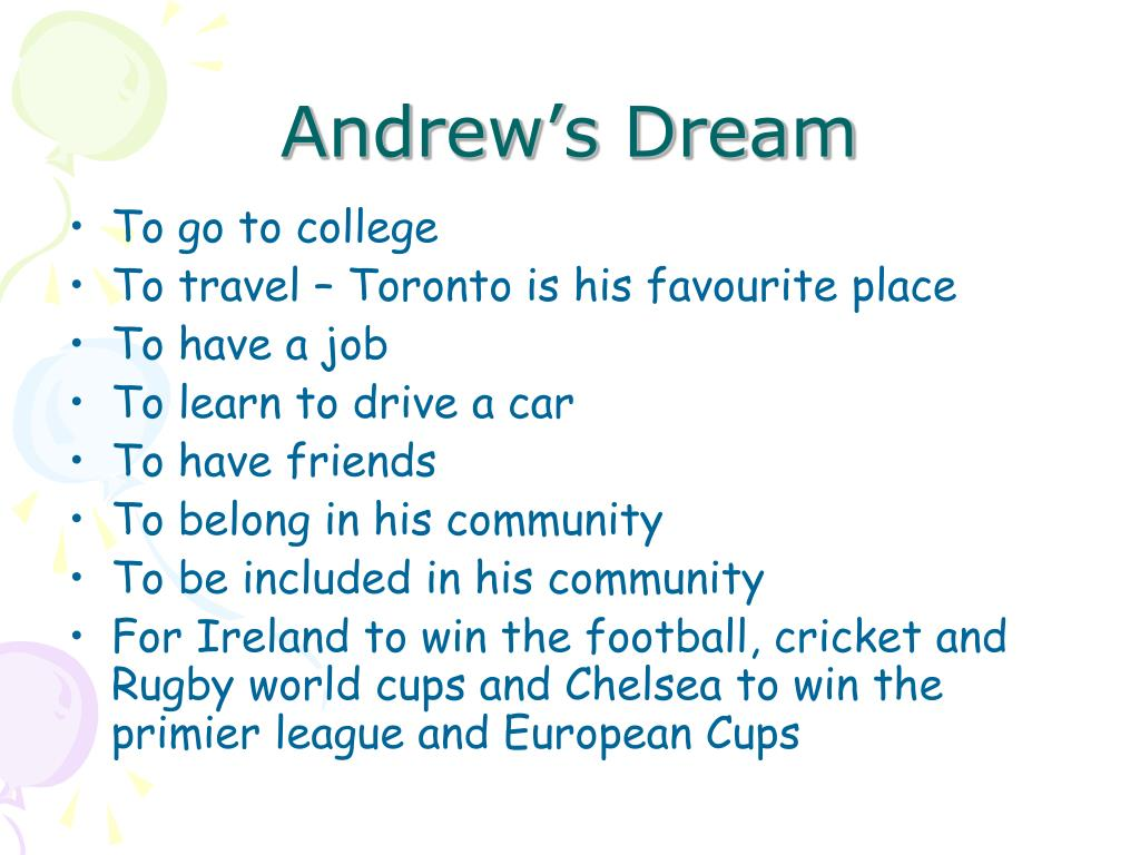 Andrew's Dream
