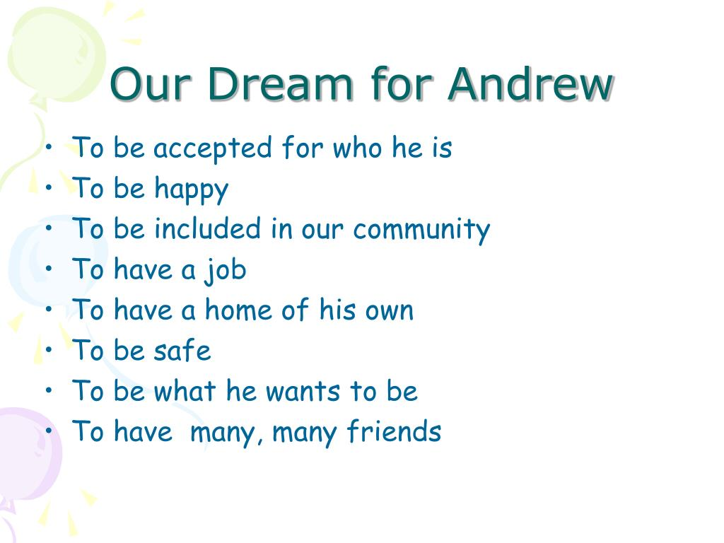 Our Dream for Andrew