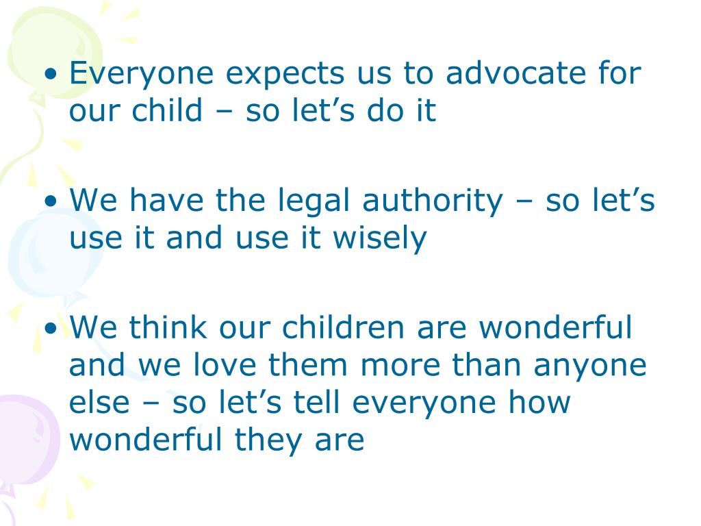 Everyone expects us to advocate for our child – so let