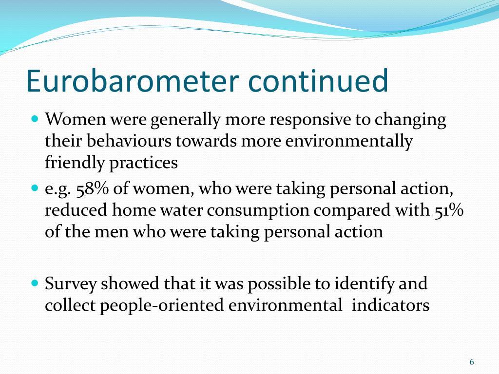 Eurobarometer continued