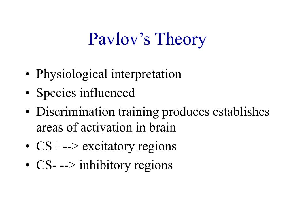 review for psychology pavlovs theory essay More psychology essays: compare & contrast two approaches to psychology this is very different from pavlovs theory of classical conditioning as skinner.