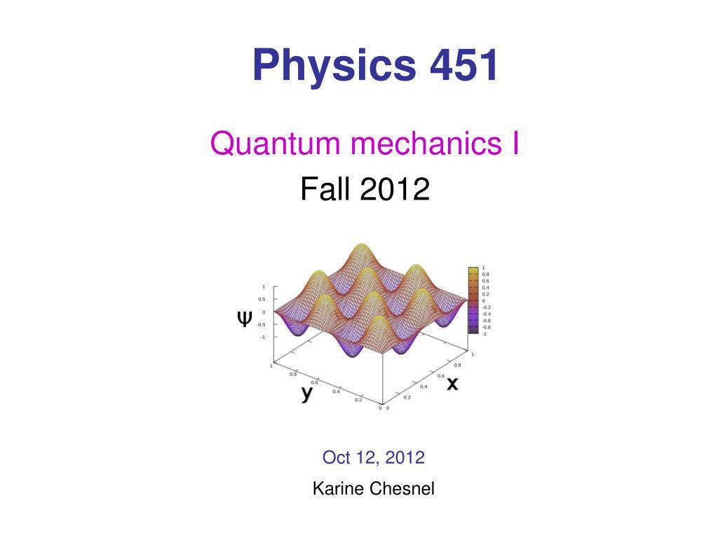 Physics 451