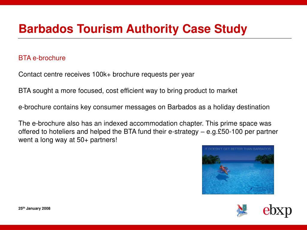 Barbados Tourism Authority Case Study