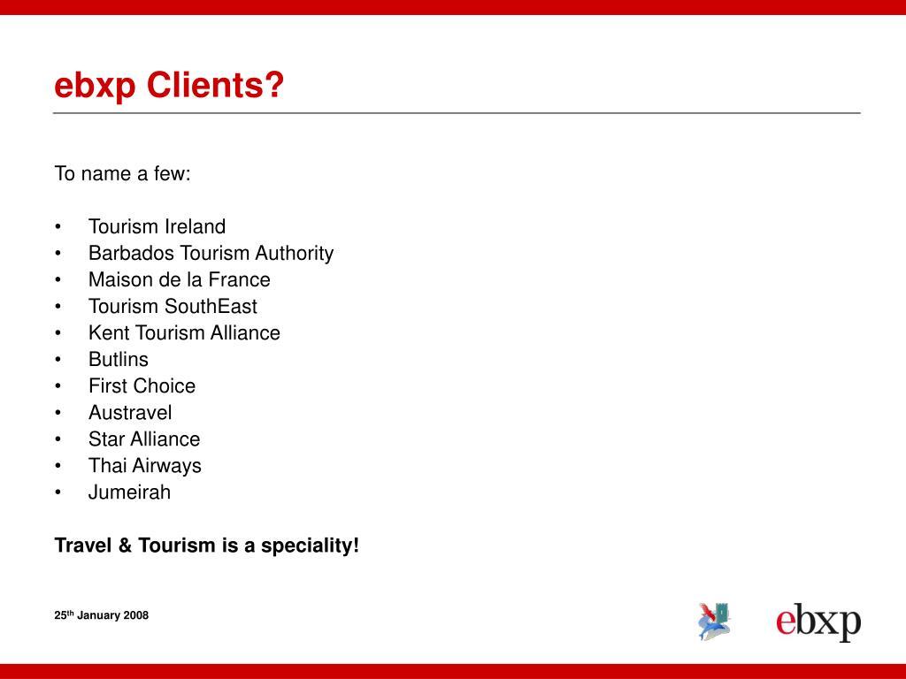 ebxp Clients?