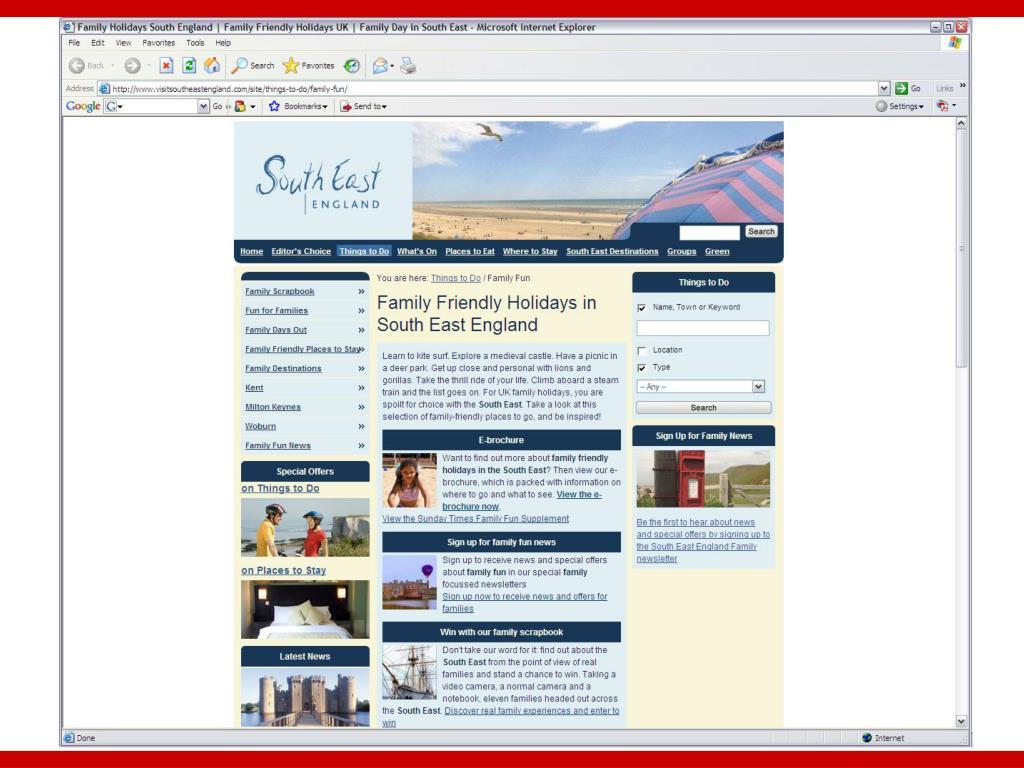 Tourism SouthEast Case Study