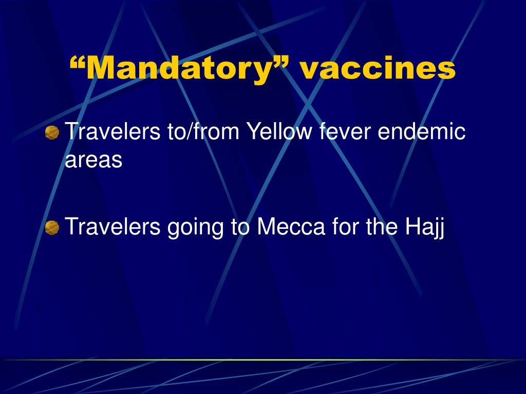 """""""Mandatory"""" vaccines"""