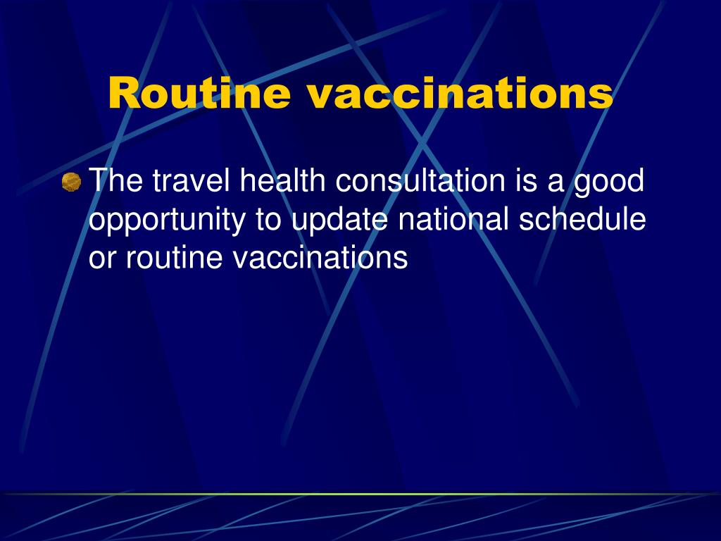 Routine vaccinations