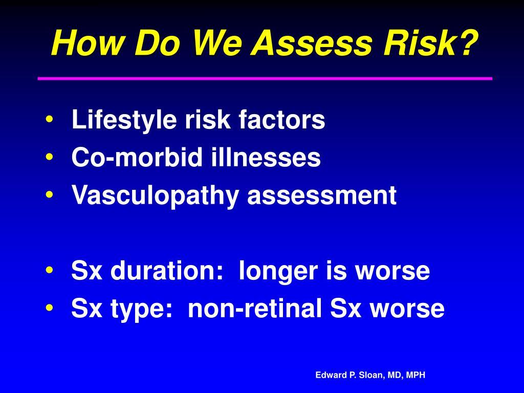 How Do We Assess Risk?
