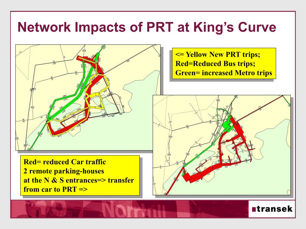 Network Impacts of PRT at King's Curve