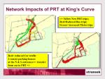 network impacts of prt at king s curve