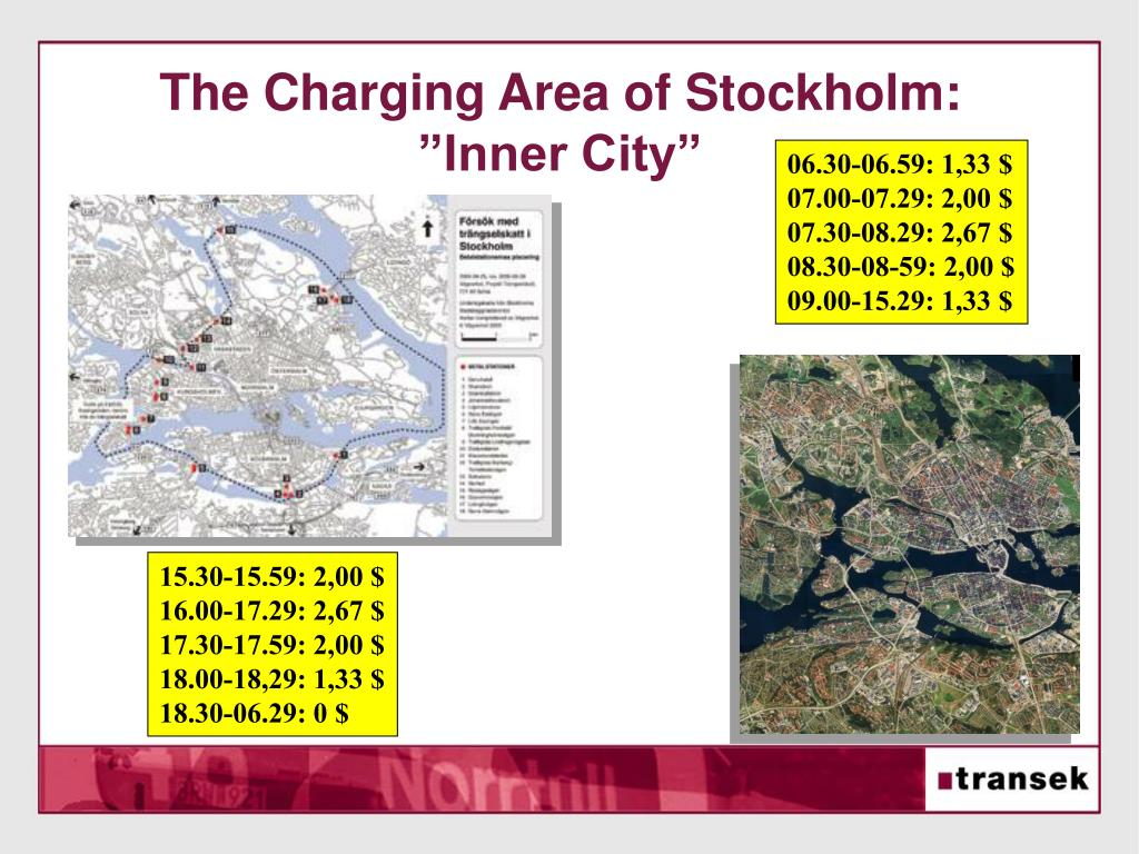 The Charging Area of Stockholm: