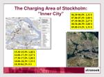 the charging area of stockholm inner city