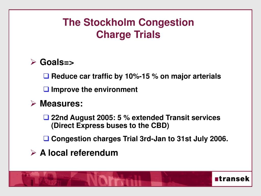 The Stockholm Congestion