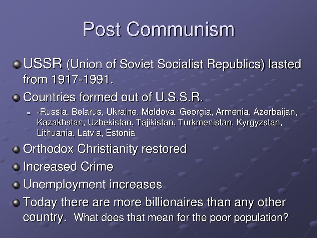 Post Communism