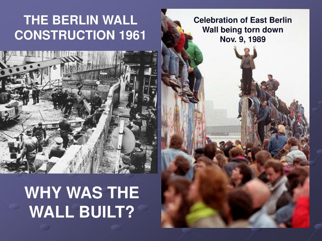 THE BERLIN WALL CONSTRUCTION 1961
