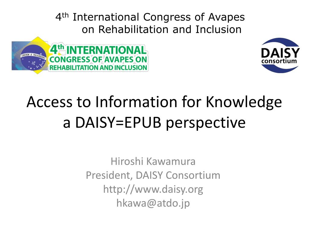 access to information for knowledge a daisy epub perspective