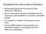 everybody has role to play at disasters