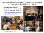 international conferences on disaster preparedness of persons with disabilities in phuket
