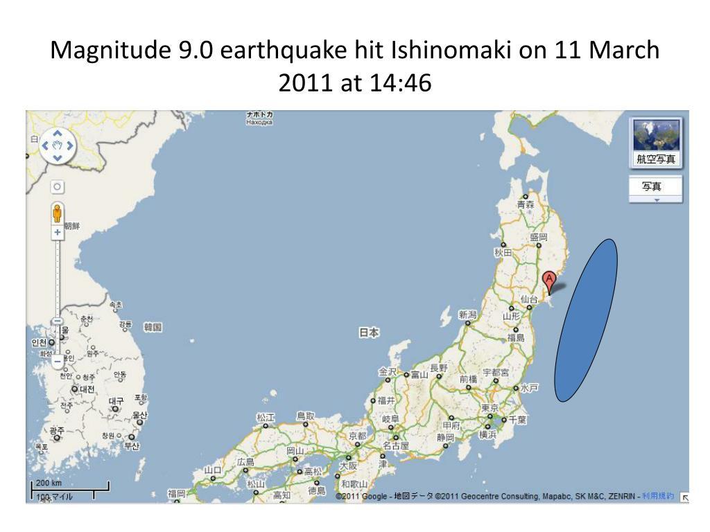 Magnitude 9.0 earthquake hit