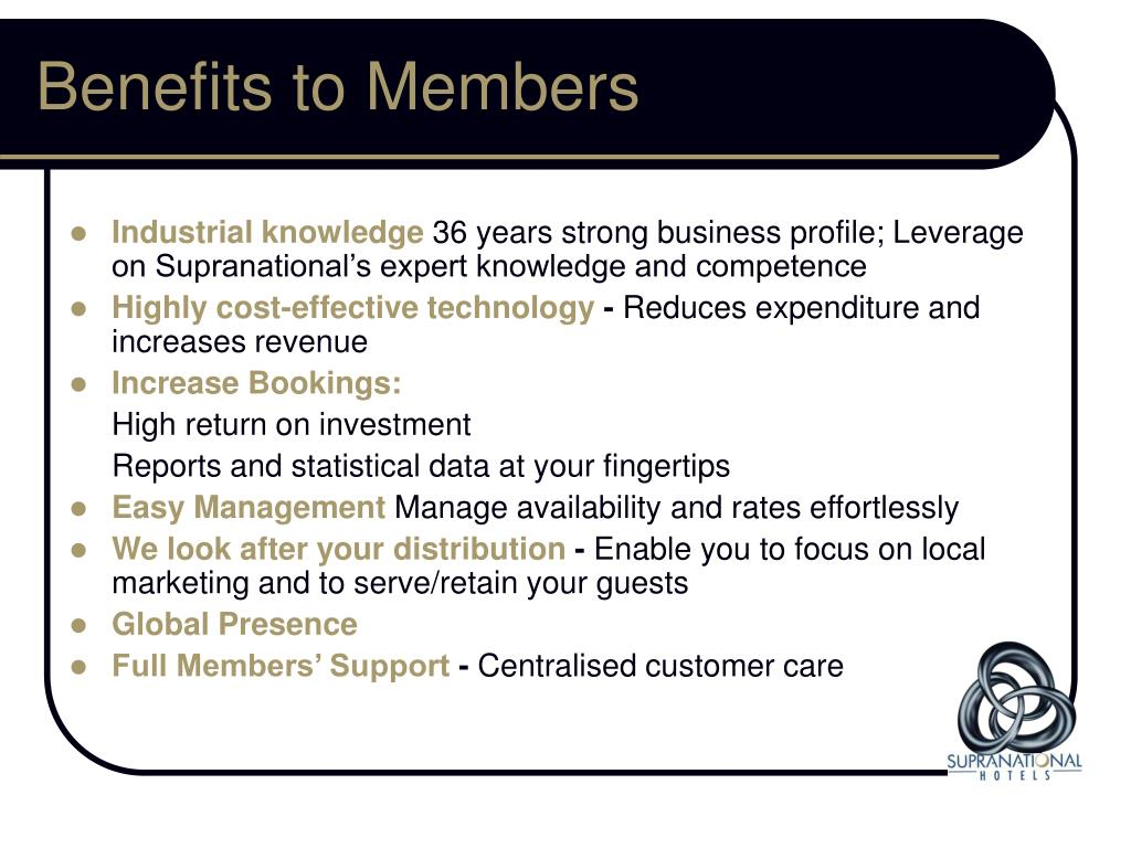 Benefits to Members