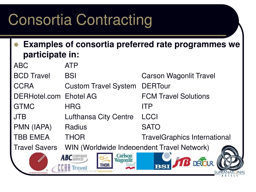 Consortia Contracting