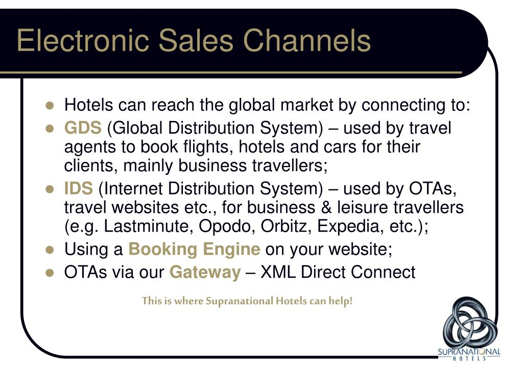Electronic Sales Channels
