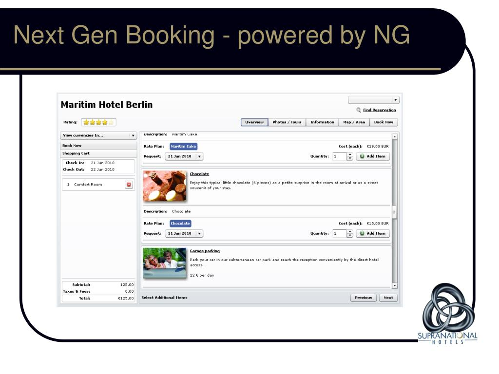 Next Gen Booking - powered by NG