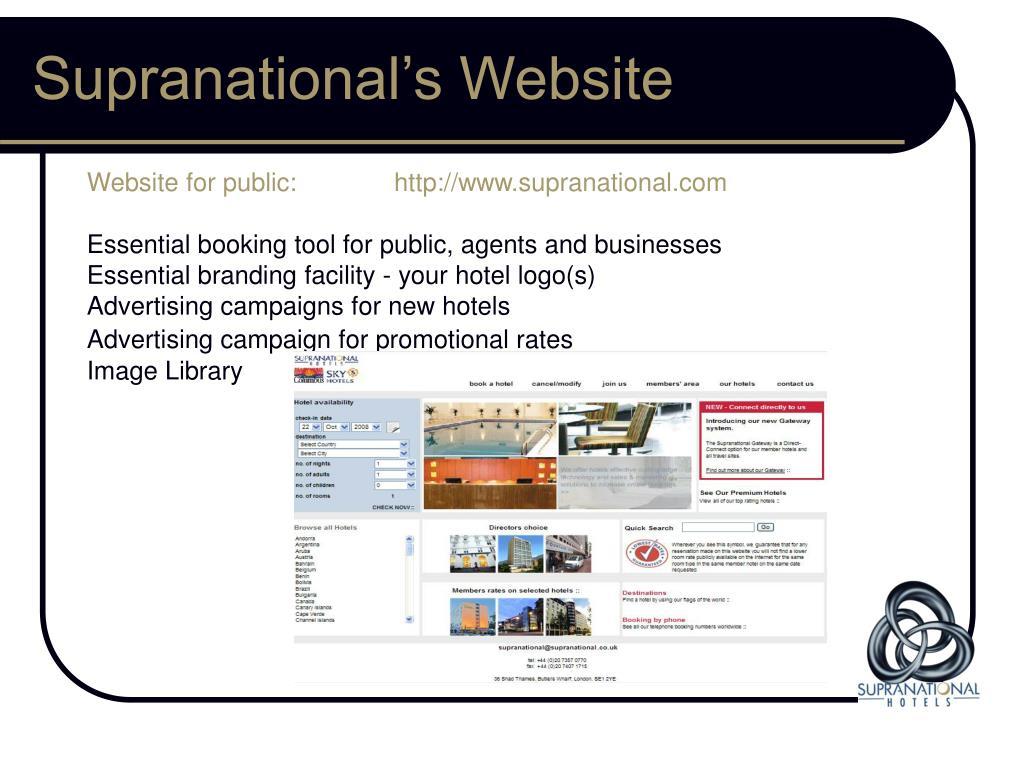 Supranational's Website