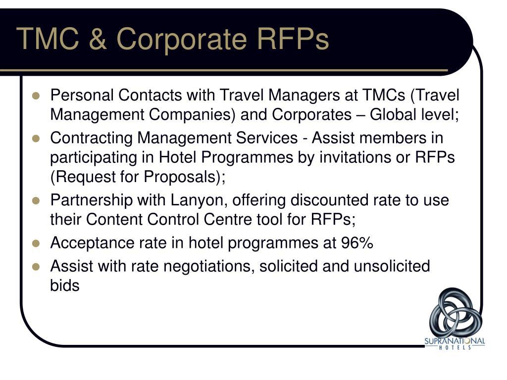 TMC & Corporate RFPs