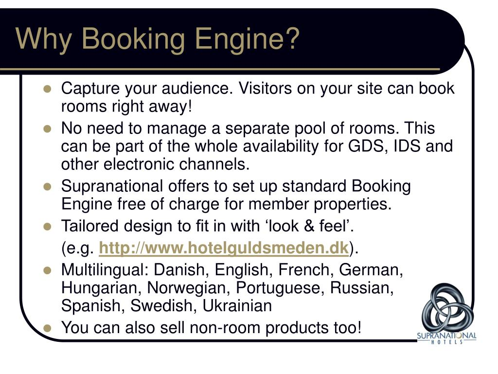 Why Booking Engine?