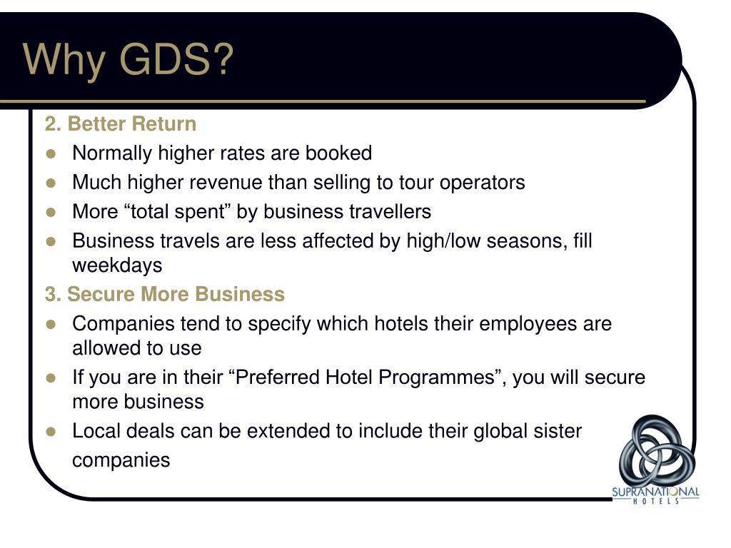 Why GDS?
