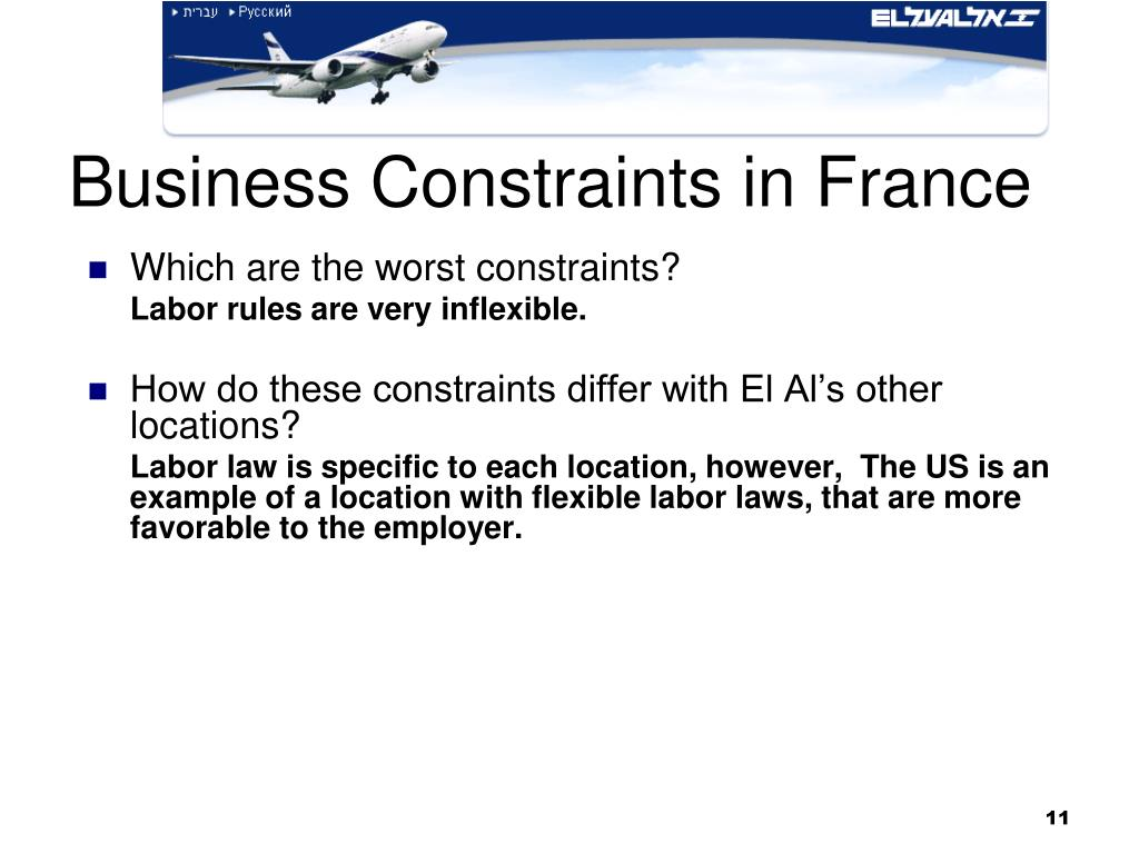 Business Constraints in France
