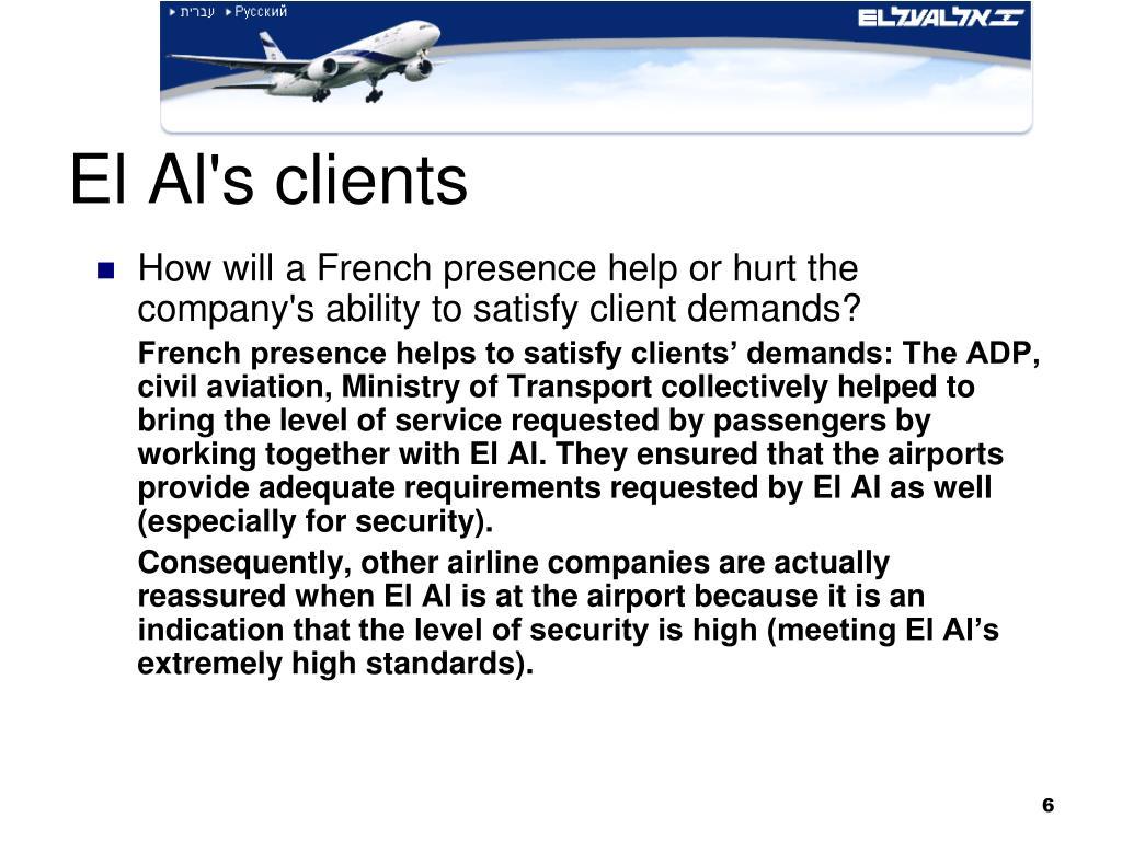 El Al's clients