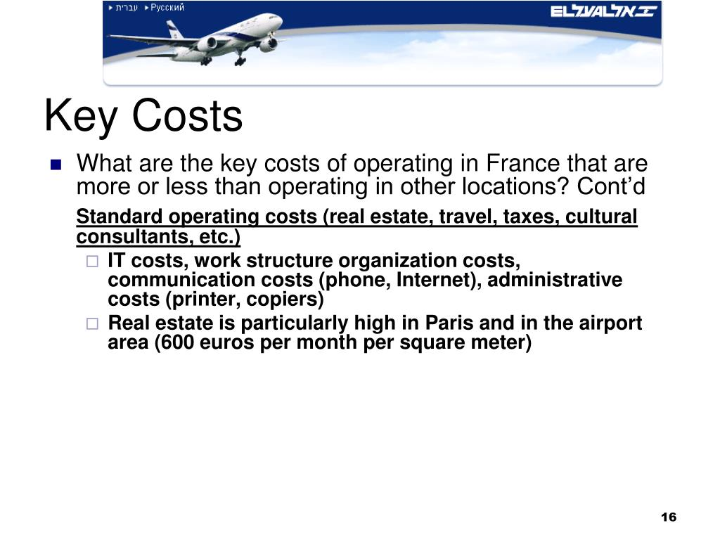 Key Costs