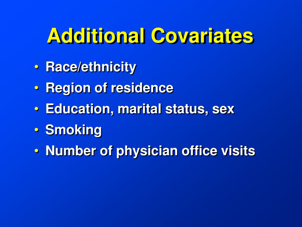 Additional Covariates