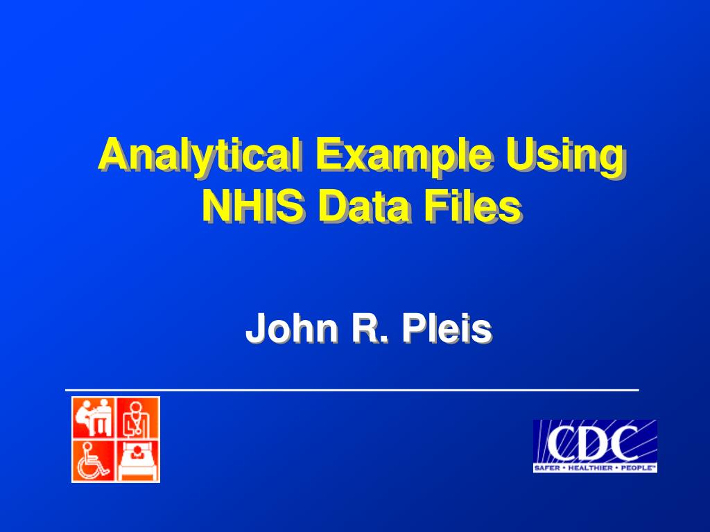 Analytical Example Using