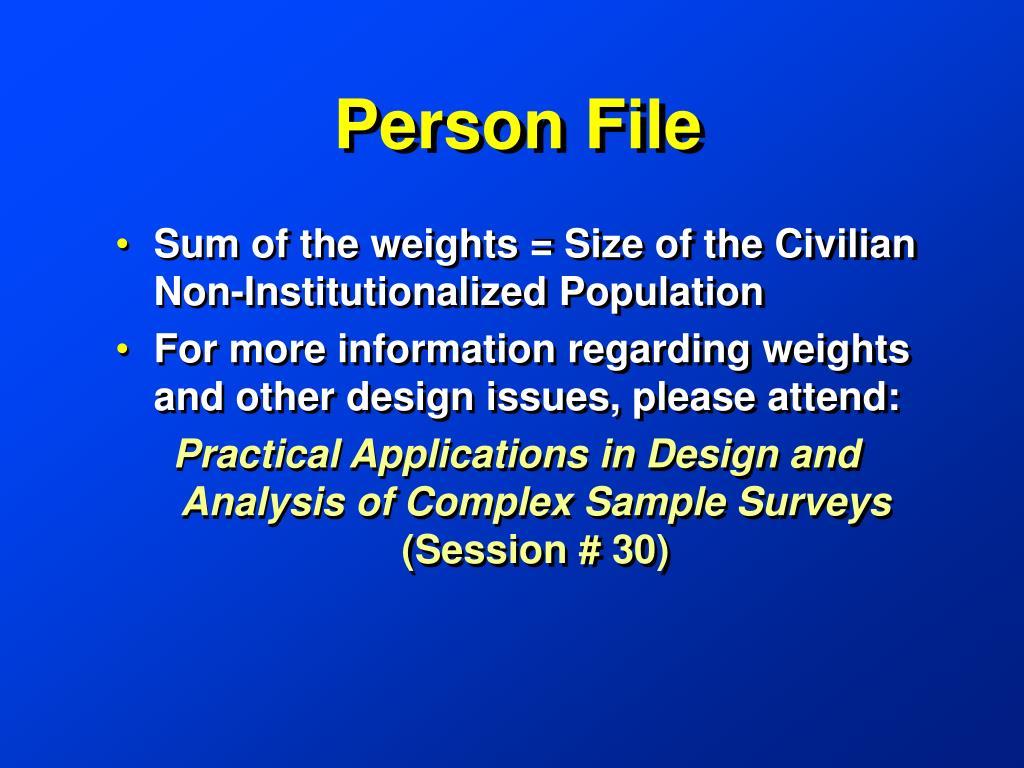 Person File