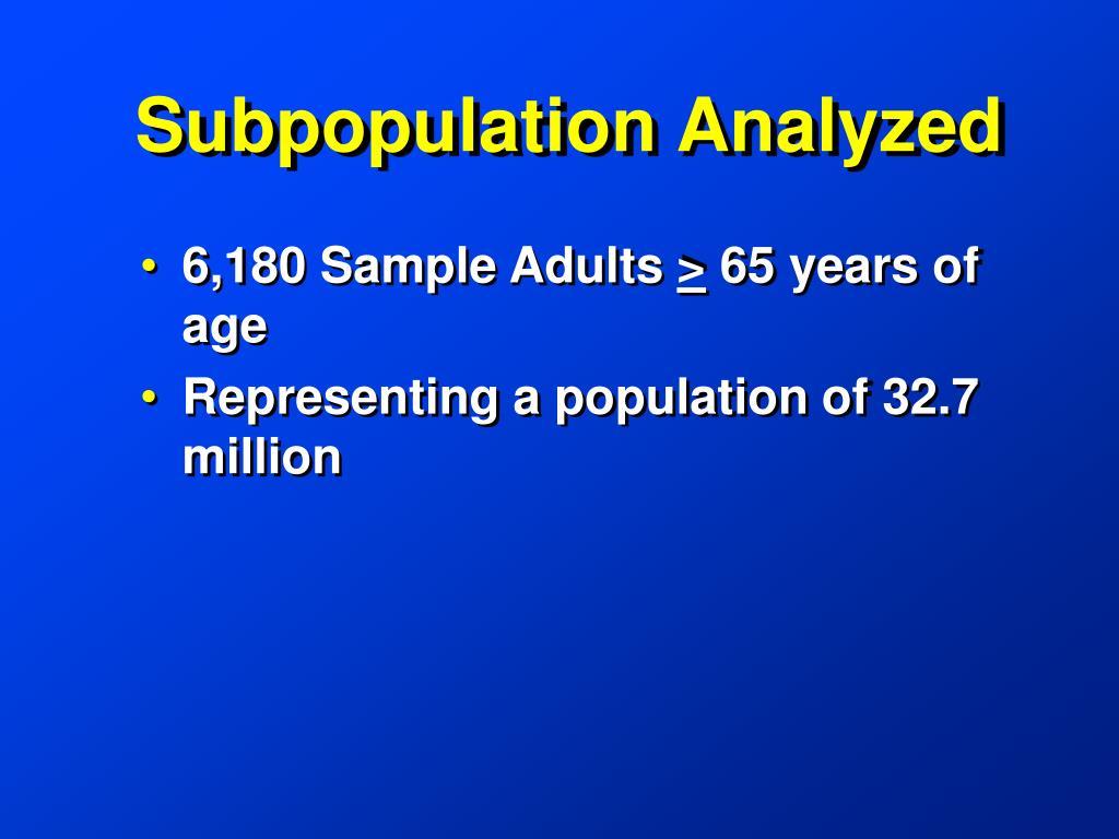 Subpopulation Analyzed