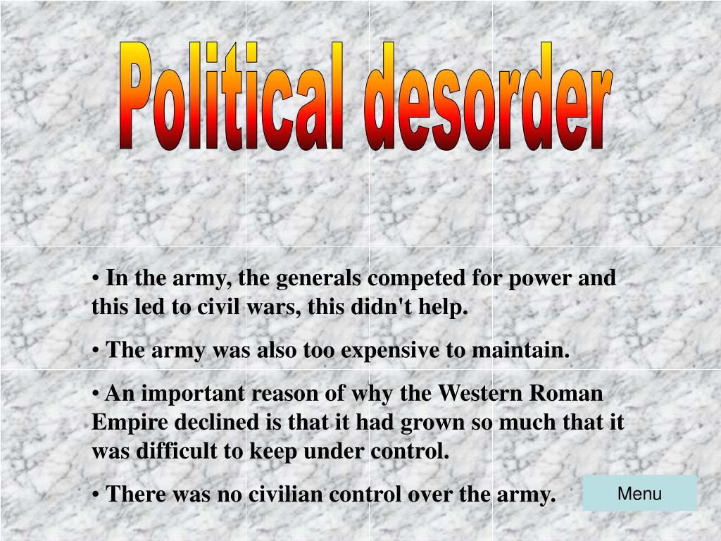 Political desorder