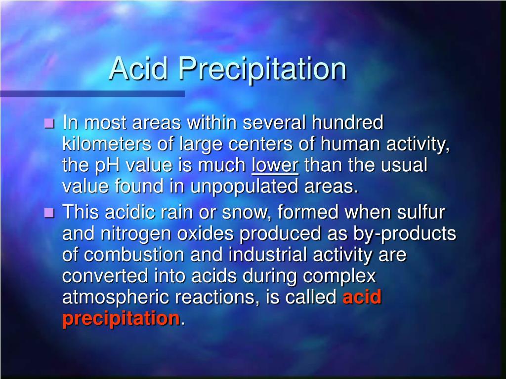 Acid Precipitation