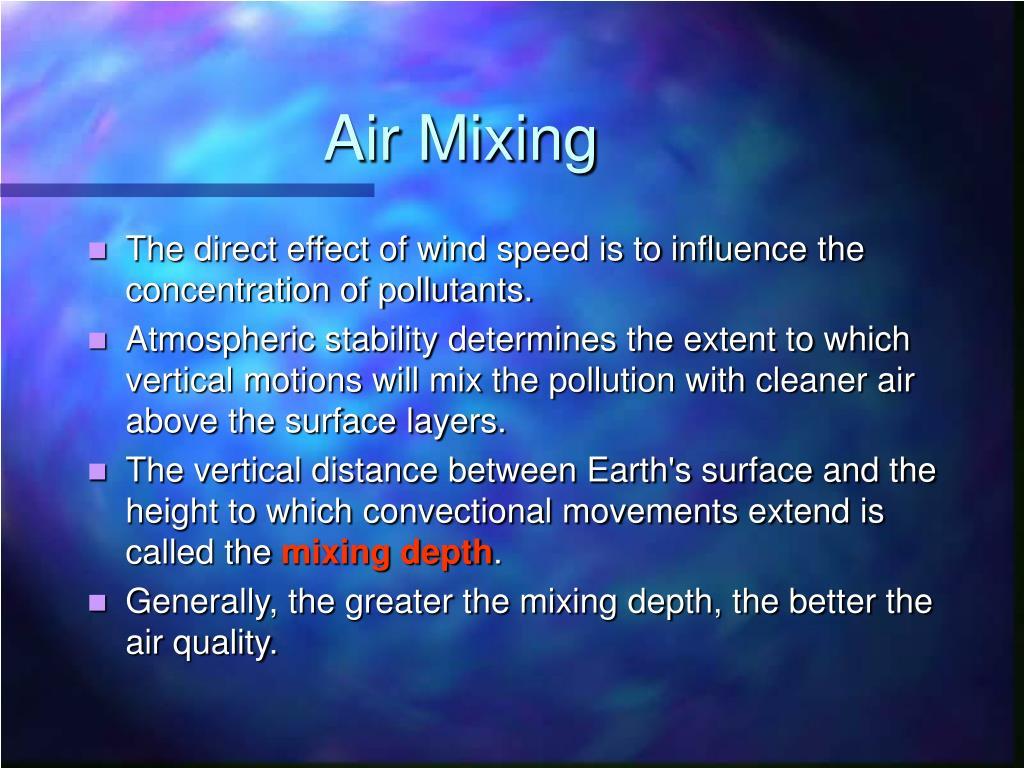 Air Mixing