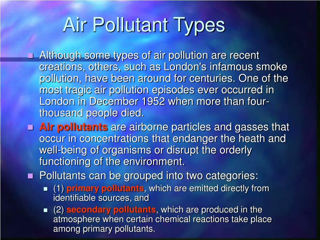 Air Pollutant Types
