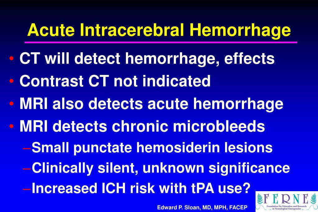 Acute Intracerebral Hemorrhage