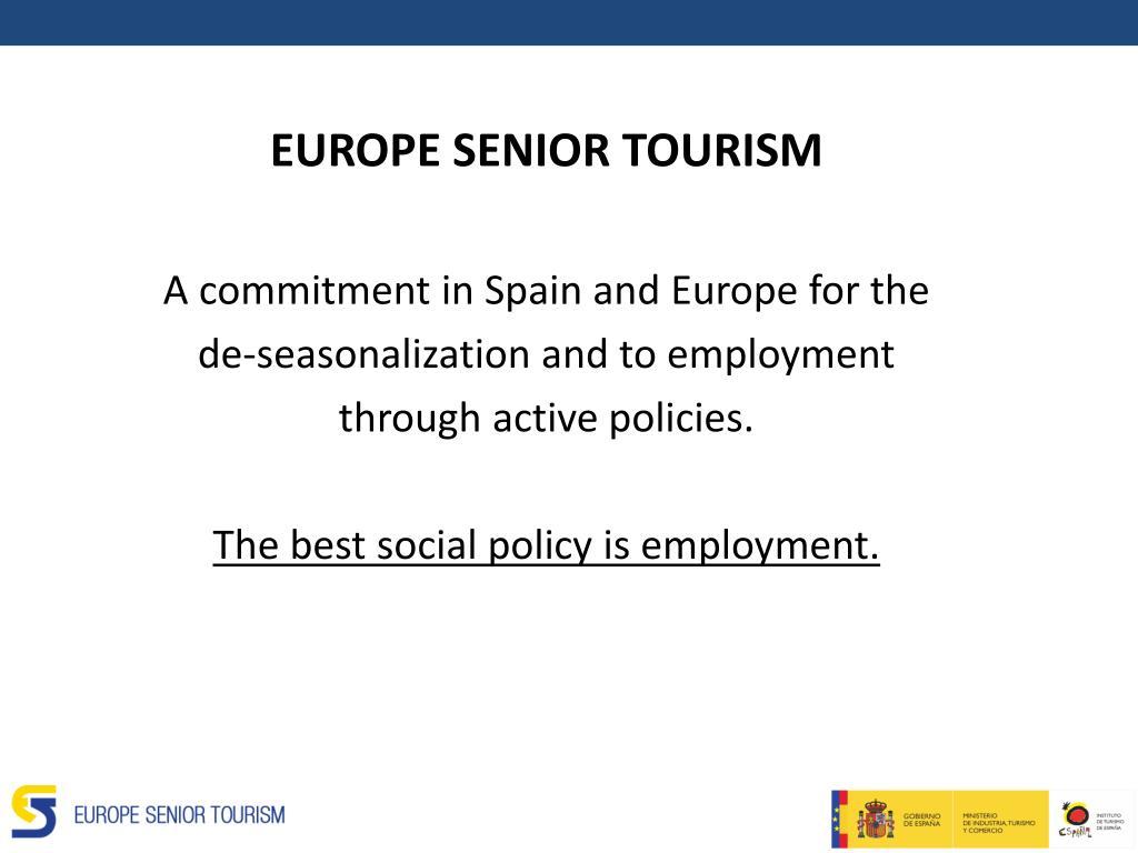 EUROPE SENIOR TOURISM