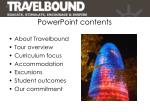 powerpoint contents