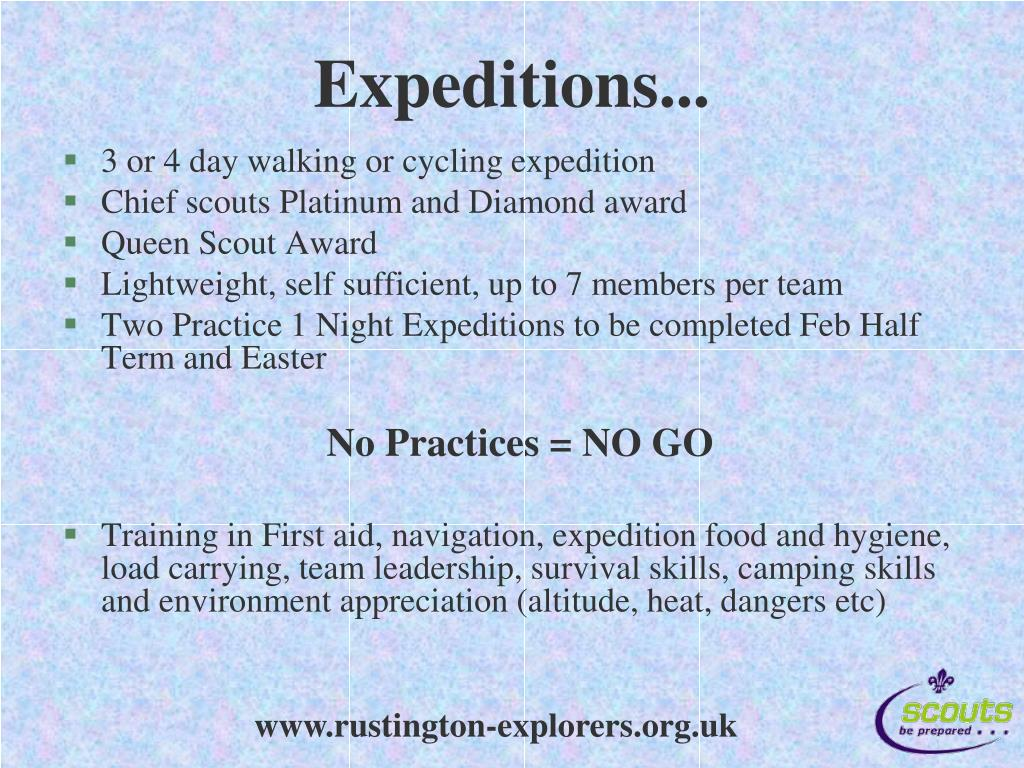 Expeditions...