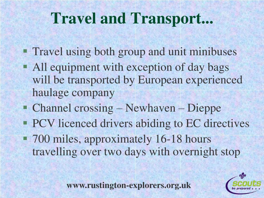Travel and Transport...