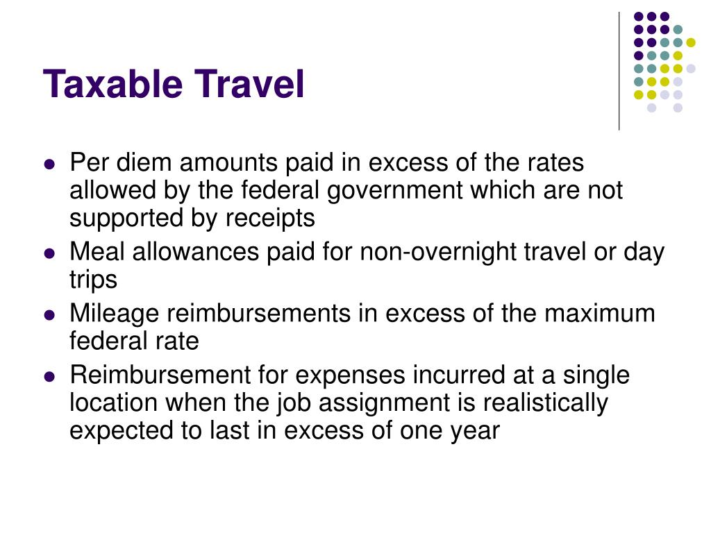 Taxable Travel