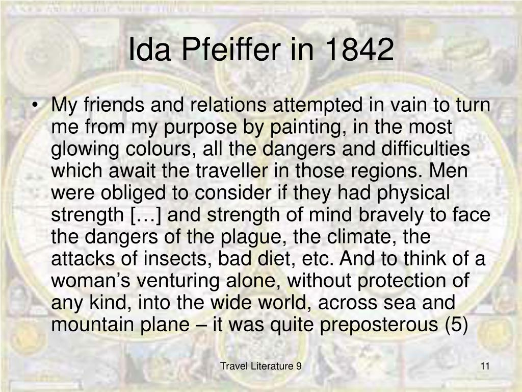 Ida Pfeiffer in 1842